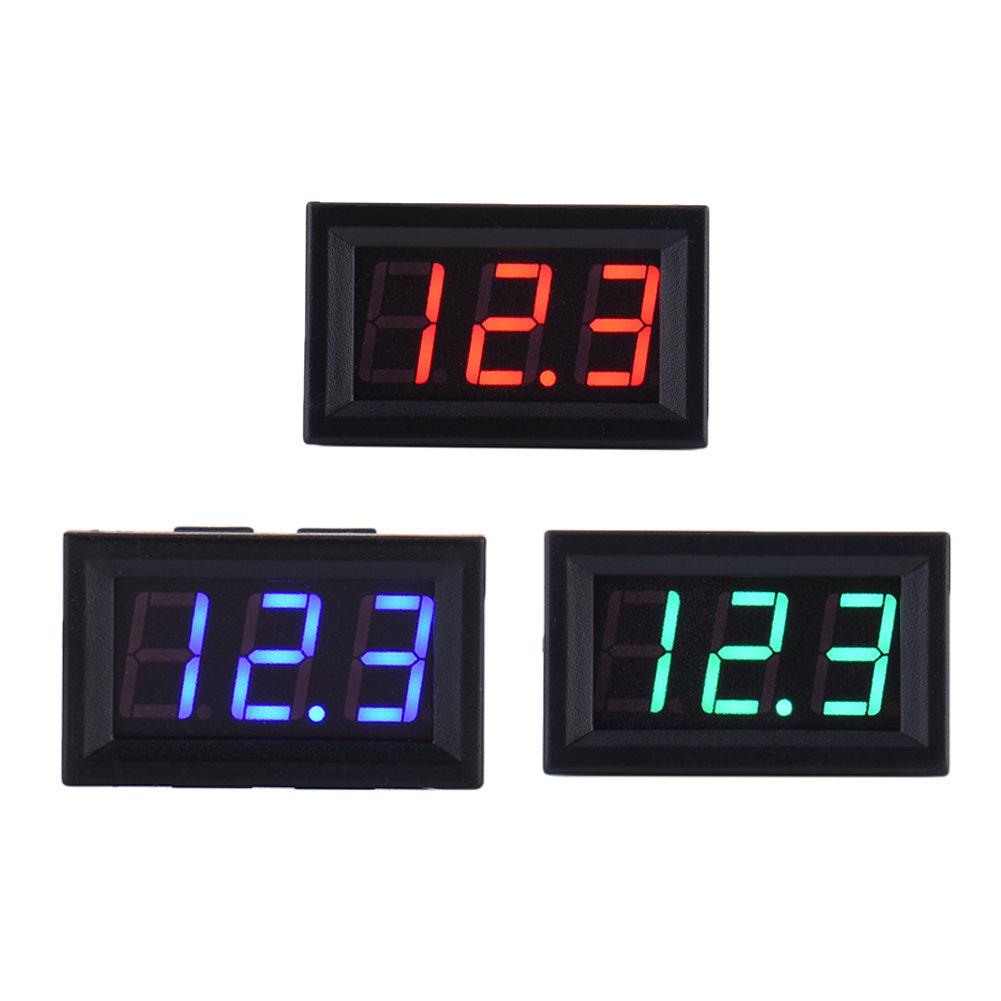 """4.5-30V DC Two-Wire 0.56"""" Panel Mount LED Digital Voltmeter"""