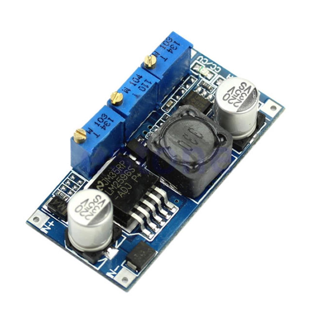 LM2596 Step-Down Constant Current and Constant Voltage (CC CV) Charging / Voltage and Current Regulator Module